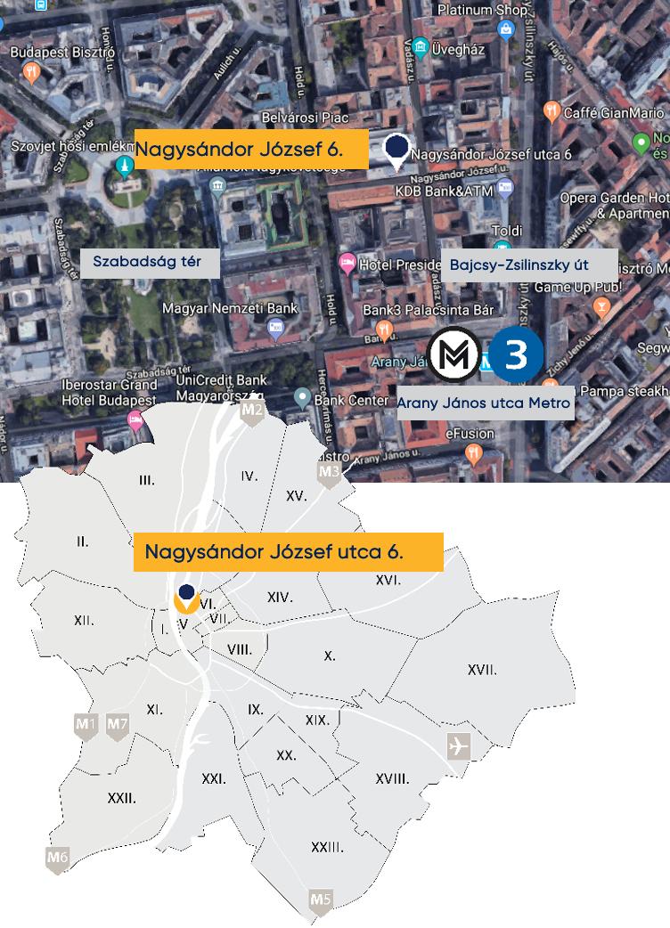 NagySándor József utca map